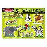 Melissa & Doug |Puzzle sonore le Zoo| Bois | 2+ | Cadeau pour garçon ou fille