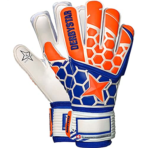 Derbystar Kinder Protect Columba III Handschuhe, orange Navy weiß, 6