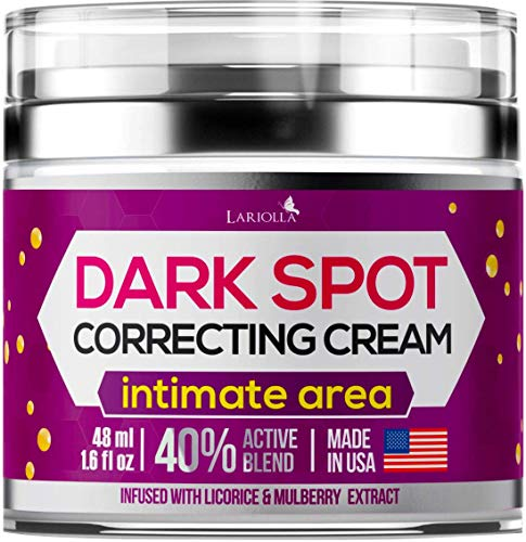Dark Spot Corrector Cream for Face and Sensitive Skin, Bikini - Made in USA - Sun Spots, Age Spots,...