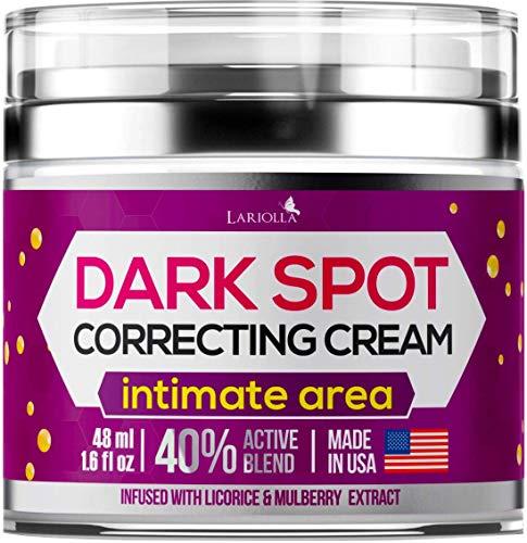 Dark Spot Corrector Cream for Face and Sensitive Skin, Bikini - Made in USA - Sun Spots, Age Spots, Hyperpigmentation and Even Skin Tone – 40% Active Blend - 48 ml