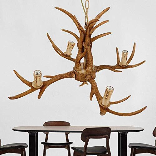HLL Candelabro, candelabro de asta - 4 cabezas Candelabro de país americano Lámparas de jardín retro Dormitorio Estilo europeo Salón Comedor Candelabro