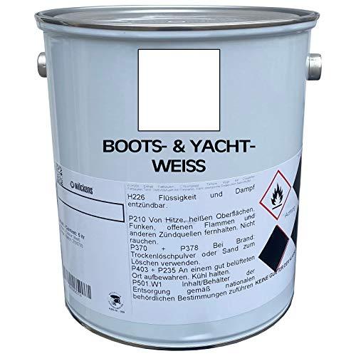 5 Liter Premium Bootslack   Yachtlack   Schiffslack   Bootsweiß Weiß   made by Wilckens