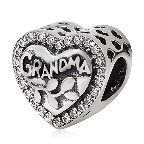 Charm-Anhänger für Pandora-Charm-Armband, 925 Sterlingsilber, Aufschrift
