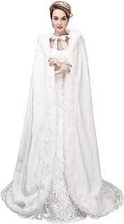 Women Soft Faux Fur Cloak Cozy Plush Wedding Dress