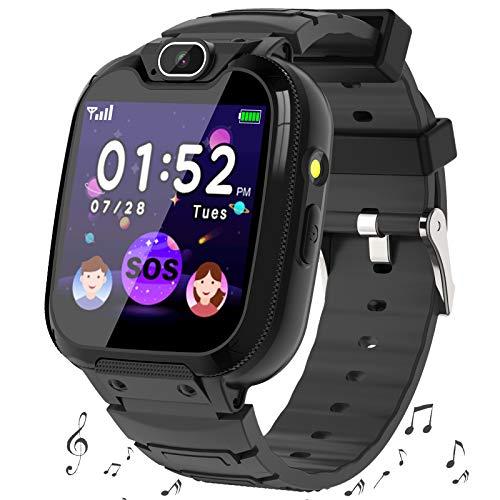 Smartwatch Niños -MP3 Música 14 Juegos Niños Reloj Inteligente llamada Chat de Voz SOS linterna Cámara Vídeo Digital...