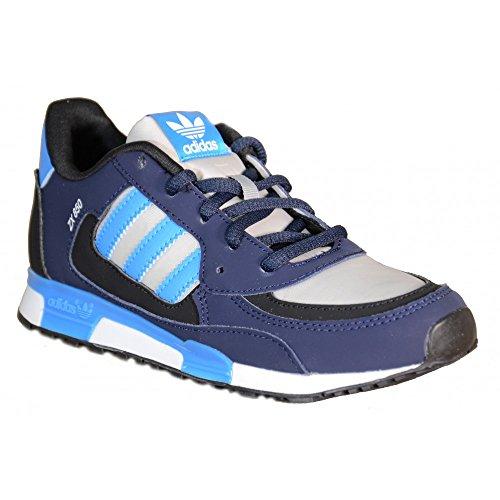 Adidas - Adidas ZX 850 K Scarpe Bambino Blu Pelle Tela M19734 - Bleu, 35