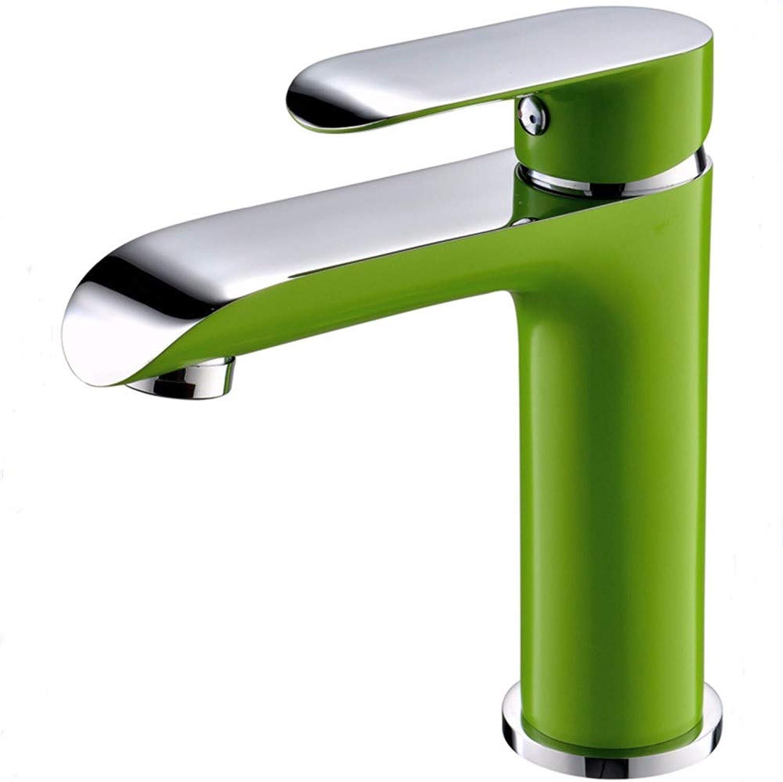 Basin faucet hot and cold basin faucet copper hot and cold basin faucet, D