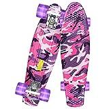 GORIFEI Skateboards for Kids Beginner Ages 6-12, 22 Inch Penny Boards for Girls Boys, Retro Purple Mini Cruiser Skateboards, Youths Skateboards, Toddler Skateboards for Girls Boys Kids Gifts