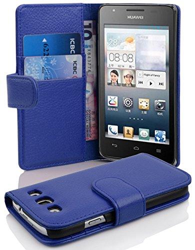 Cadorabo Hülle für Huawei Ascend G525 / G520 - Hülle in KÖNIGS BLAU – Handyhülle mit Kartenfach aus struktriertem Kunstleder - Hülle Cover Schutzhülle Etui Tasche Book Klapp Style