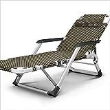 WJJJ Poltroncina reclinabile Multifunzionale con braccioli in Alluminio, Poltrona di Design per Balcone Giardino