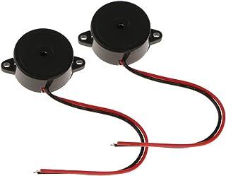 YANSHON 6pcs Buzzer Sonore SFM-27 Buzzer d'Alarme Avertisseur Sonore électronique avec Ligne pour Type de SFM-27 Accessoires pour cabriolet Auto et Moto