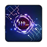 Cuasting H9 TV Box Android 9.0 S905X3 Chipset de Cuatro NúCleos de 64 bits Cortex A55 4 / 32G TV Set Top Box (Enchufe de la UE)