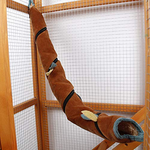 WiFndTu - Túnel de peluche para colgar para hámster, hamaca, animales pequeños, túnel largo, juguete para escalar, ardilla y azúcar, jaula para colgar para ocultar la caza y descansar
