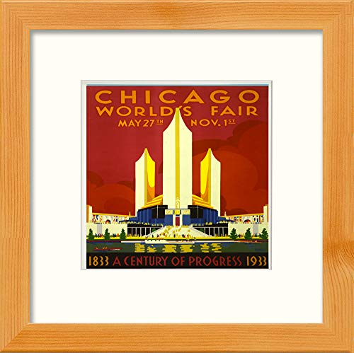 L Lumartos Vintage Chicago World Fair Poster Hedendaagse Home Decor Muurdecoratie Aquarel Print