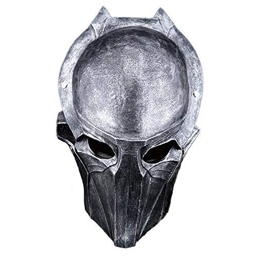 YBBGHH Horror Predator Mask Eagle Face Falconer Masquerade Mask Halloween Props-Silver