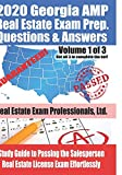 2020 Georgia AMP Real Estate Exam Prep Questions and Answers: Study Guide to Passing the Salesperson Real Estate License Exam Effortlessly [Volume 1 of 3]