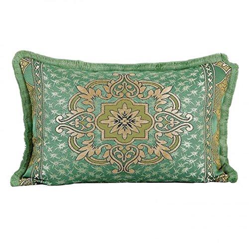 Casa Moro Marokkanisches Deko Kissen-Bezug Hassena Grün 75 x 55 cm | Orientalische Vintage Kissenhülle für Zierkissen Couchkissen Sofakissen Motivkissen | SO1307