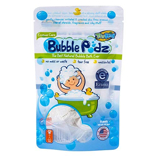 TruKid Bubble Podz Care for Sensitive Skin - Safe, Unscented Wellness Calming Bubble Bath for Kids - Pediatrician and Dermatologist Tested - 24 Count