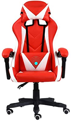 Bseack Swivel Chair Gaming Chair, Height Adjustable Elevating Rotary High Back Simple Racing Chair for