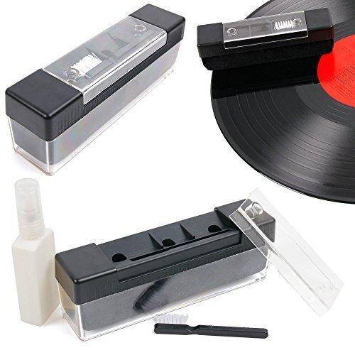 DURAGADGET FANTÁSTICO Kit/Pack Limpieza Profesional para Discos De Vinilo - Incluye Spray + Cepillo De Terciopelo + Mini Cepillo- ¡Eficacia Probada!
