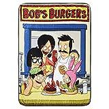 Bob's Burgers Fleece Throw Blanket - Bob, Tina & Louise Belcher Throw Blanket (Family Counter)