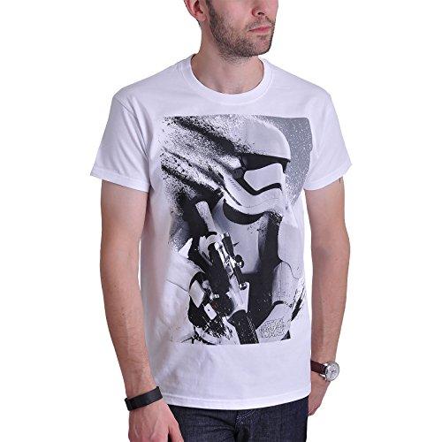 Star Wars 7 Stormtrooper Splatter T-Shirt zu Das Erwachen der Macht Force Awakens weiß - L