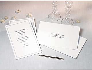 Wilton White Border Wedding Invitation Cards with Envelopes, 100pc, 5.5''W x 8.5''L