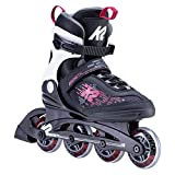 K2 Skate Women's Kinetic 80 Inline Skate, Black_Berry, 6.5