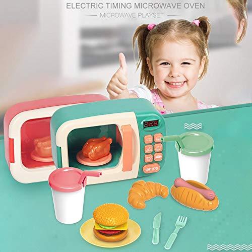 Dedeka Microondas de Juguete con luz y Sonido con Alimentos Falsos ...