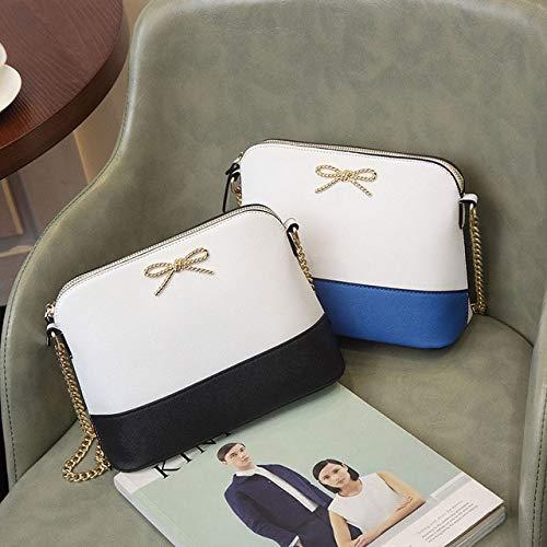 Mdsfe Umhängetasche und Handtaschen Geldbörsen Messenger Mode Einfach Täglich wasserdichte Frauen Weibliche Innenschlitz Tasche - Blau