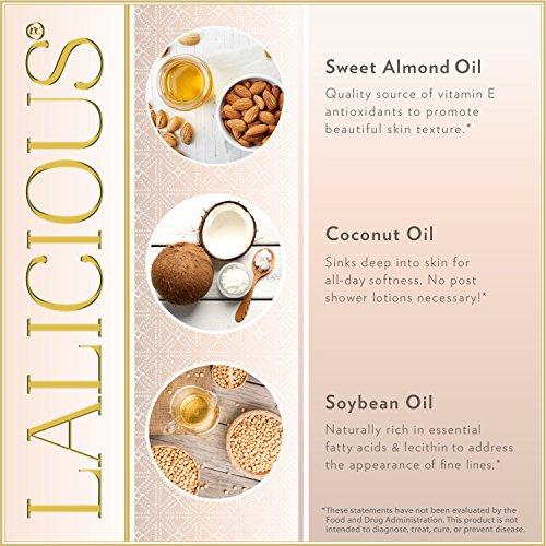 LALICIOUS Sugar Kiss Extraordinary Whipped Sugar Scrub - Cane Sugar Body Scrub with Coconut Oil & Honey, No Parabens (16 Ounces)