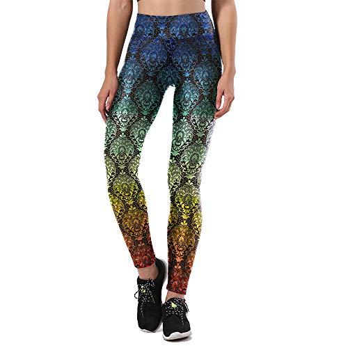 MAOYYMYJK Yoga-Hose Für Damen Lässige Fitnesshose Mit Lochmuster Und Digitaldruck-Jogginghose Y1148