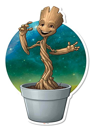 Marvel Guardians of The Galaxy Pot Groot Décoration Murale, Multicolore