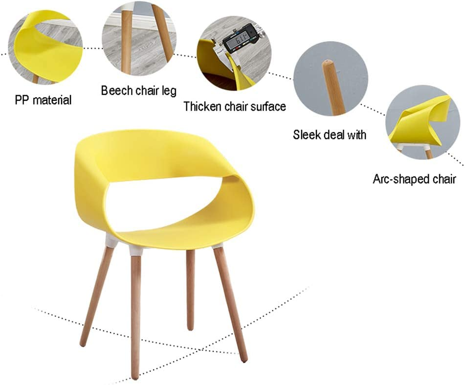 Ping Bu Qing Yun Chaise de Salon de réception Moderne avec Une personnalité Simple et créative - Sept Couleurs au Choix @ (Color : Red) Red