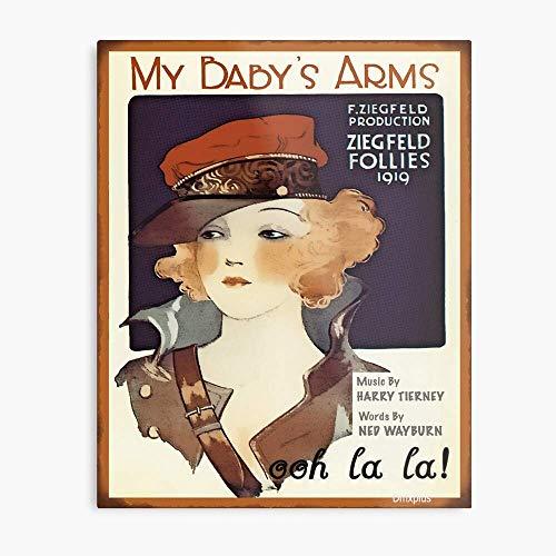 HGDGAH My Baby'S Arms - Letreros de metal vintage para decoración Pub, cafetería, sala de estar, dormitorio, garaje, jardín, 30,5 x 20,3 cm