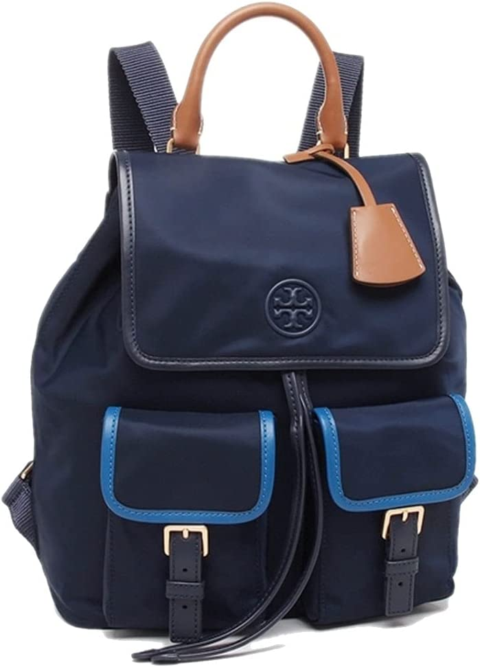 Tory Burch Women's Perry online shop Nylon Flap Backpack Navy Royal price