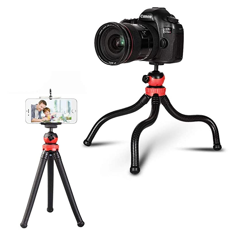 VIGIND Phone Tripod, Flexible Ball Head Tripod for Gopro Android and Smartphone, Adjustable Waterproof and Anti-Crack Camera Tripod Stand with Universal Clip
