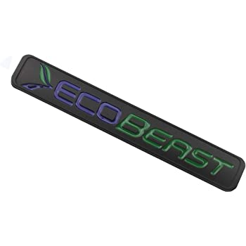 Black Green ECOBEAST Badge Emblems 3D Sticker Nameplate Door Fender Tailgate Stickers Replacement for 2011 2012 2013 2014 2015 2016 2017 2018 2019 F-150