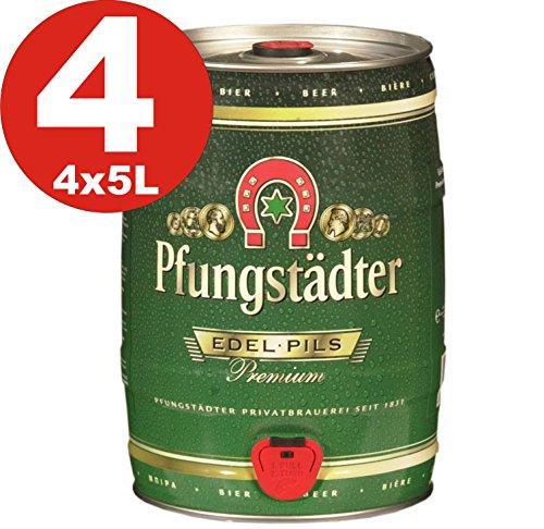 4 x Pfungstaedter Edel Pils Premium 5 Liter Partyfass 4,9% vol