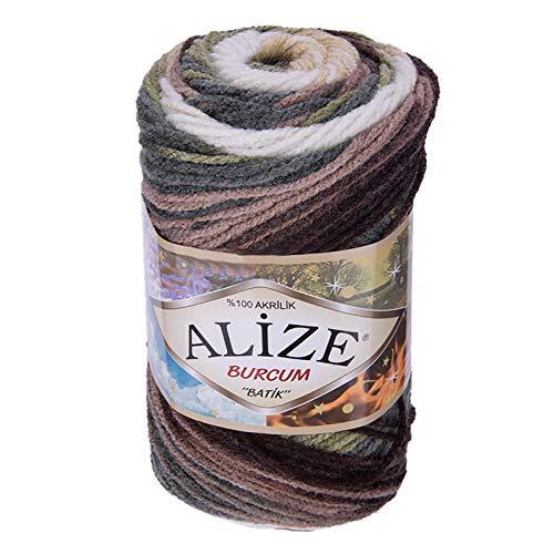 100g Strickgarn ALIZE BURCUM Batik Strickwolle Handstrickgarn, Farbe wählbar, Farbe:1893