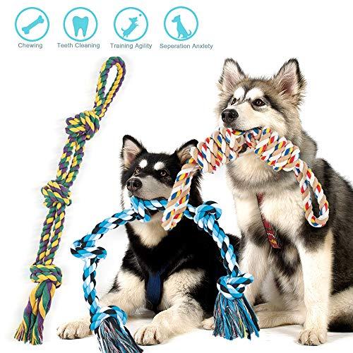 FONPOO Hundespielzeug Unzerstörbar für Große Hunde Mittlerer Hunde Starke Hunde Seile Spielzeug Set 3 Teilig