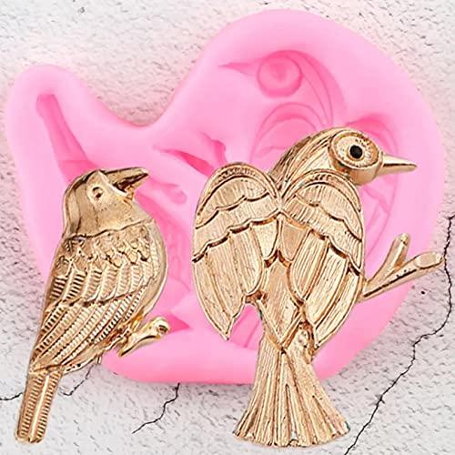 AAKK Molde De Pastel 3D Craft Birds Molde De Silicona Joyería Moldes De Arcilla De Resina Cupcake Topper Fondant Herramientas De Decoración De Pasteles Candy Chocolate Gumpaste Mold