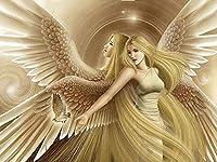 大人のジグソーパズル2000個大人のジグソーパズル2000個子供大きなジグソーパズルおもちゃギフト 天使の女の子と鳥 70 X 100cm