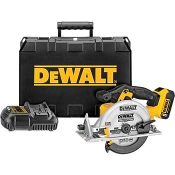 DEWALT 20V MAX 6-1/2-Inch Circular Saw Kit, 5.0-Ah (DCS391P1)
