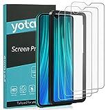 yotame Panzerglas für Xiaomi Redmi Note 8 Pro, 3 Stück Schutzfolie Xiaomi Note 8 Pro Displayschutzfolie Anti-Kratzen Anti-Bläschen 9H Härte Panzerglasfolie für Xiaomi Redmi Note 8 Pro HD Klar Folie
