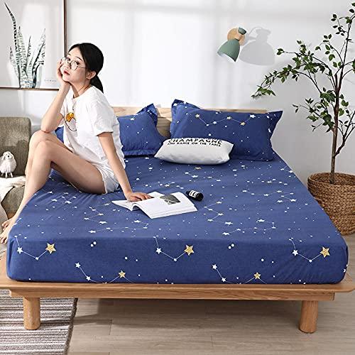 CYYyang colchón Acolchado, antialérgico antiácaros, Sábana Impermeable de un Solo Producto hotel-27_150cm × 190cm