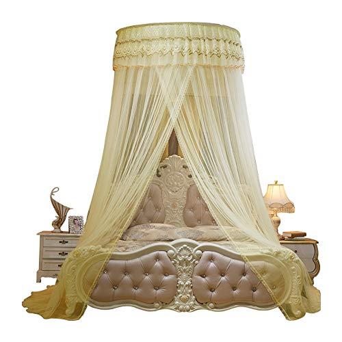 Willlly Vliegengaas voor afzuigkap prinses Windnet Cryptage Chic Dick Casual dubbele 1,8 m 1,5 m bed stijl van de middenzee Oosterse zachte decoratie Size Gelb