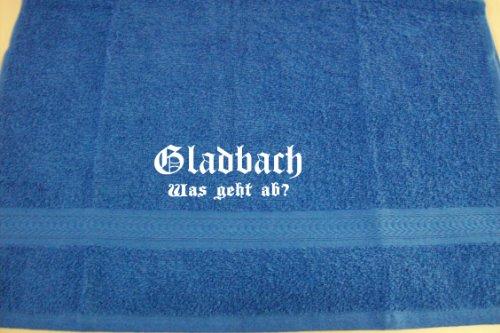 ShirtShop-Saar Gladbach - was geht ab?; Städte Badetuch, Royalblau