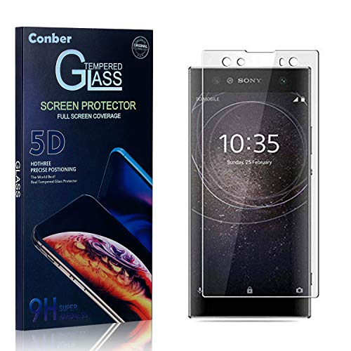 Conber Panzerglasfolie für Sony Xperia XA2 Ultra, [3 Stück] 9H gehärtes Glas, Kratzfest, Blasenfrei, Hülle Fre&llich Hochwertiger Panzerglas Schutzfolie für Sony Xperia XA2 Ultra