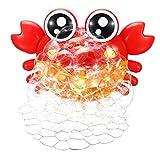 A/N Spielzeug zur Herstellung von Blasen Kid Bad Crab Bubble Machine Bunte Light Music Seifenblasenset Maker (Color : Red, Size : One Size)